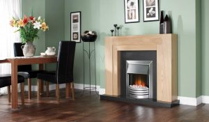 Freeport electric Fire by Fireplace
